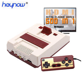 8 Bit Game Console Built-in 500 Classic Games HDMI out Mini Game Console Family TV Handheld Game Player AV out For Child