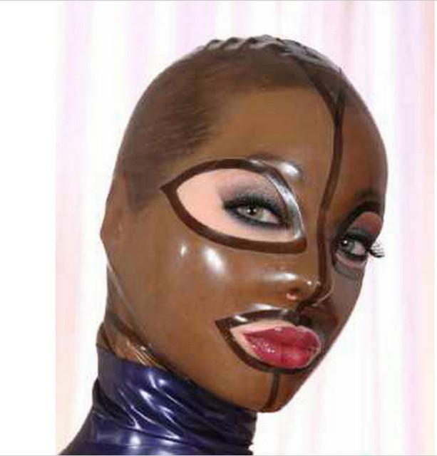 Campana De Goma de Látex transparente Negro Ojos Abiertos Boca Y Fosa Nasal y Artesanal de Calidad Superior