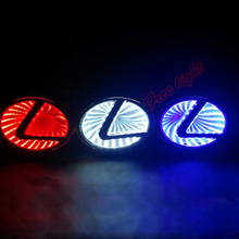 3D Car Led Logo Light Auto Badge Sticker Rear Emblem Tail Lamp White/Blue/Red for LEXUS LS270/RX450H/CT200H/EX250