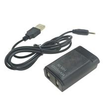 أسود/أبيض 800mAh بطارية حزمة قابلة للشحن مع USB إلى تيار مستمر كابل شحن ل Xbox 360 وحدة تحكم لاسلكية