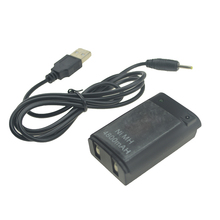 Black/White 800mAh Rechargeable Pack Battery with USB to DC Charging Cable for Xbox 360 Wireless Controller