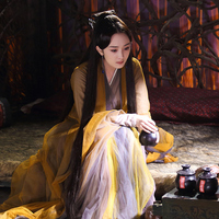 2019 new womens sexy white dance dress girls chinese folk dance costumes tang hanfu chinese ancient clothing fairy princess
