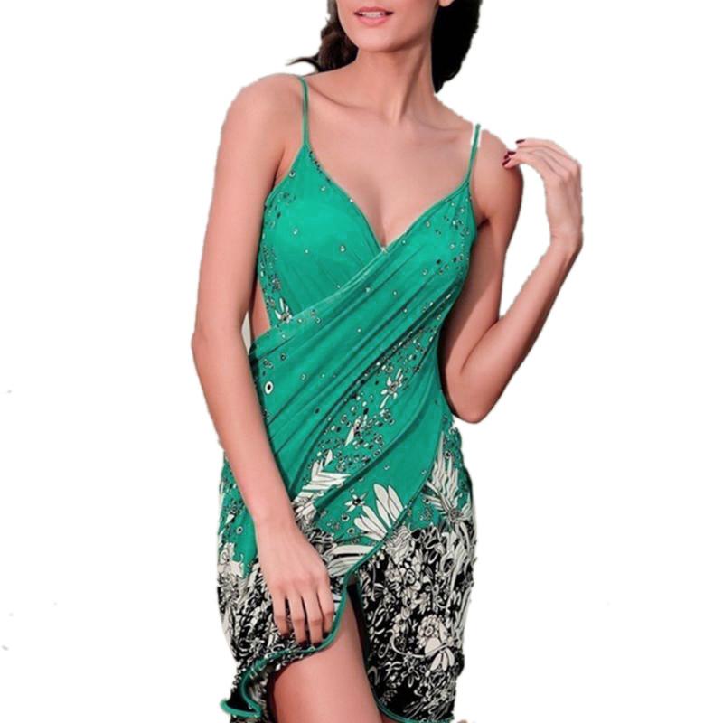 17 New Hot Women Beach Dress Sexy Sling Beach Wear Dress Sarong Bikini Cover-ups Wrap Pareo Skirts Towel Open-Back Swimwear 4