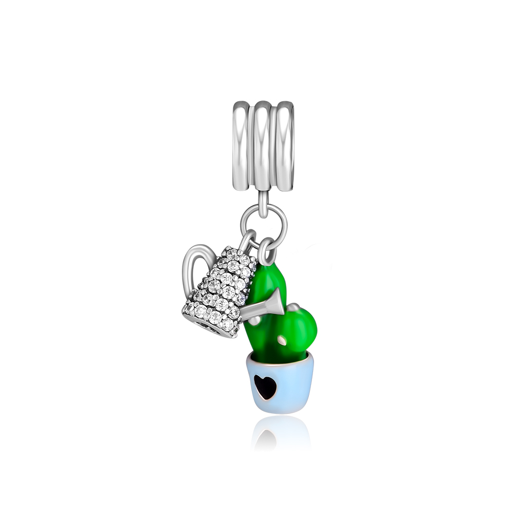 CKK Beads Potted Plant Cactus Siamese Mushroom Charm Fits Pandora Charm Bracelets Silver 925 Original Bead for Jewelry MakingCKK Beads Potted Plant Cactus Siamese Mushroom Charm Fits Pandora Charm Bracelets Silver 925 Original Bead for Jewelry Making