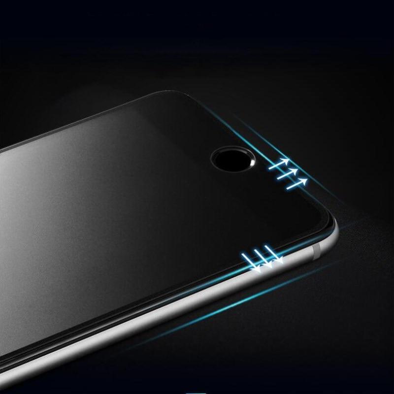 9H 2.5D matowy matowy pełna pokrywa szkło hartowane Screen Protector dla iPhone X XS MAX XR 10 8 7 6s 6 Plus 7Plus anty odciski palców 9