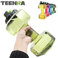 Manubri TEENRA 1 Pz 2.2L Bottiglia di Acqua Grande Capacità Palestra Sport Bottiglia Bottiglia di Acqua di Plastica Per Il Fitness All'aperto Bicicletta Campeggio