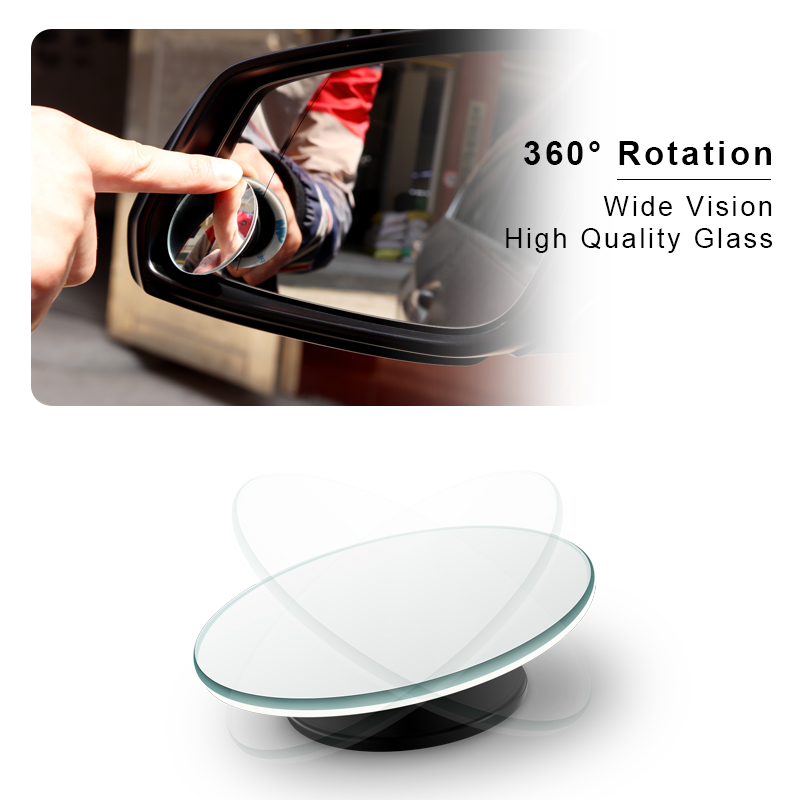 Car 360 Wide Angle Round Convex Mirror Car Vehicle Side Blindspot Blind Spot Mirror Wide Rear View Mirror Small Round Mirror(China)