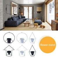 Iron Simple Flower Stand Hanging Baskets Flower Pot Holder Home Decoration Home Decoration Floral White Black Stand