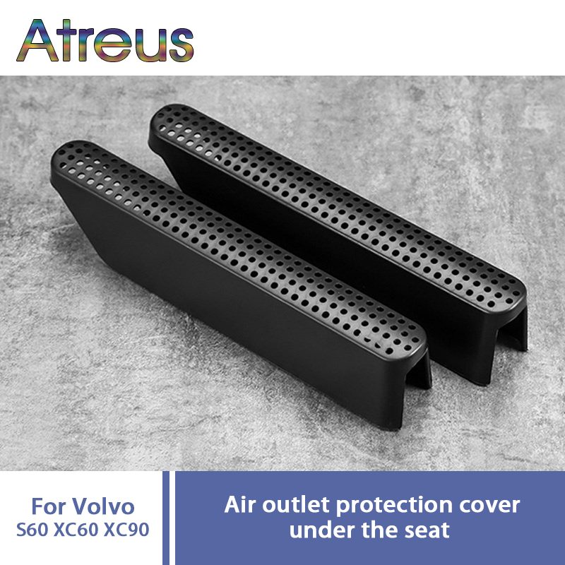 Atreus 2pcs Car Seat Air Conditioner Air Outlet Protective Cover For Volvo XC60 XC90 2018 Auto Accessories For Volov S60 exhaust tips on jaguar xe