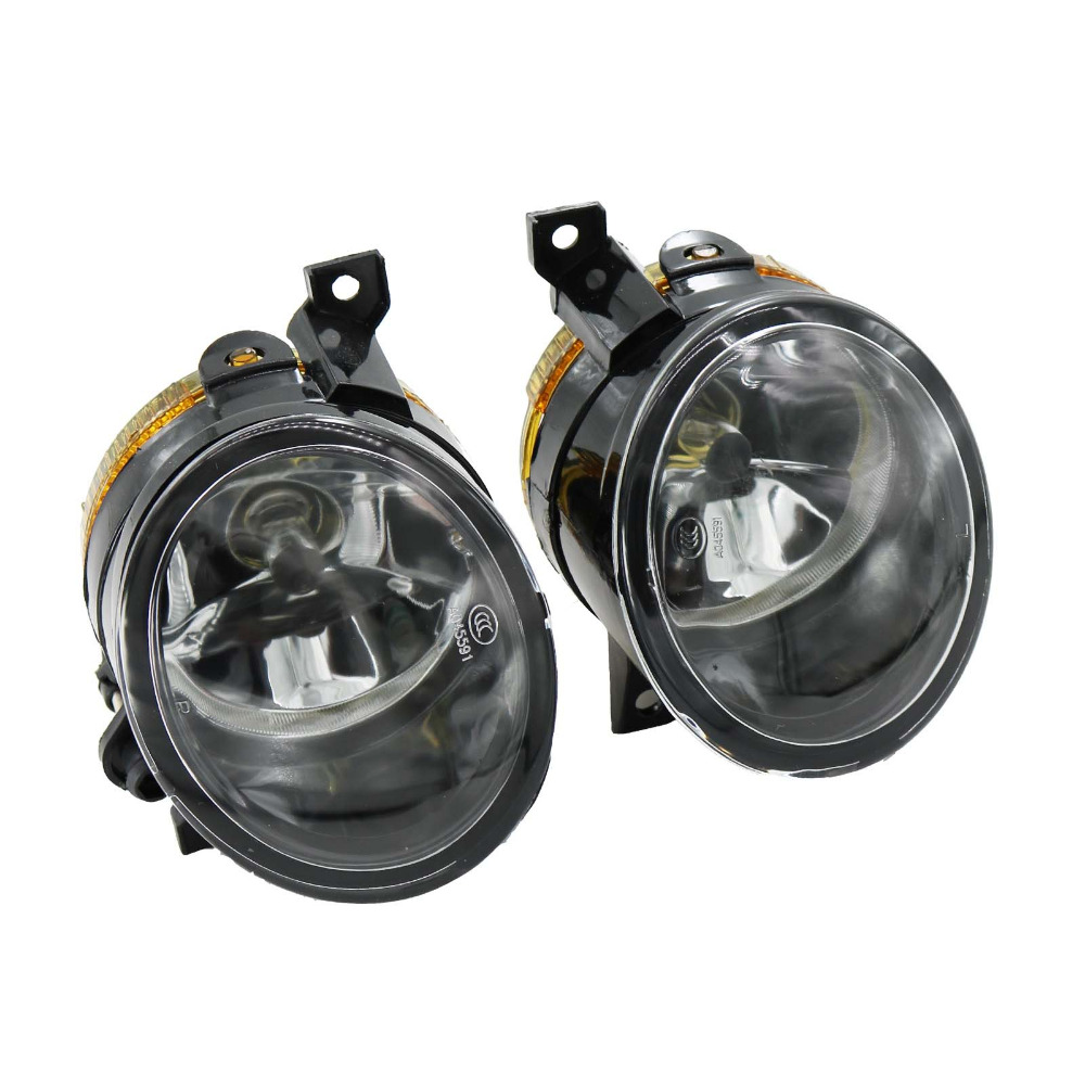 2Pcs For VW Scirocco 2009 2010 2011 2012 2013 2014 Car-styling Front Halogen Fog Light Fog Light With Bulbs car modification lamp fog lamps safety light h11 12v 55w suitable for mitsubishi triton l200 2009 2010 2011 2012 on