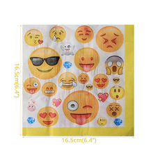 10pcs Emoji Disposable Tableware Napkin Paper towel Happy Birthday Party Decorations Supplies Easter Baby shower Activity goods 1set emoji disposable tableware banner sign flags happy birthday party decorations supplies easter baby shower activity goods