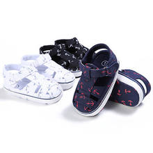 NEW Baby girl boy sandals Shoes print light canves infants Summer Shoes 0 to18 Month Unisex(China)