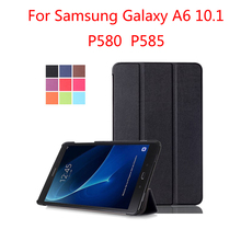P580 P585 Case for Samsung Galaxy Tab A6 10.1 Inch Magnetic Smart Stand Cover SM-P580 SM-P585 Funda
