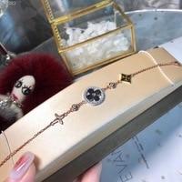 ZOZIRI women jewelry famous brand flower charms bracelet ,925 silver rose gold blossom flowers bracelets