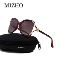 MIZHO 717a6 Luxury Solarized Somen Vidrio Sunglasses Women Polaroid UV Protection Original Diamond Pattern Brand Design