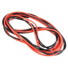 JFBL Hot sale 2x 3M 14 Gauge AWG Silicone Rubber Wire Cable Red Black Flexible