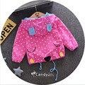 Девочка одежда симпатичные мультфильм животных формы с капюшоном пальто детские малыш чистого хлопка случайные верхняя одежда горошек одежда