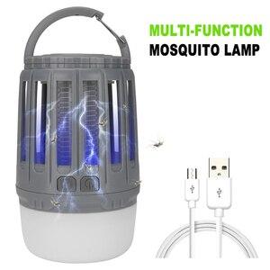 Image 3 - LED خيمة مصباح 2 in 1 علة Zapper مصباح USB فانوس تخييم يمكن إعادة شحنه المحمولة مقاوم للماء قاتل الماموس الكهربائي القاتل LED فانوس