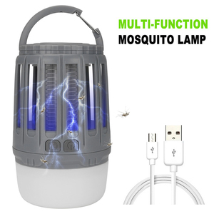 Image 3 - LED Tent Lamp 2 in 1 Bug Zapper Lamp USB Rechargeable Camping Lantern Portable Waterproof Electric Mosquito Killer LED Lantern