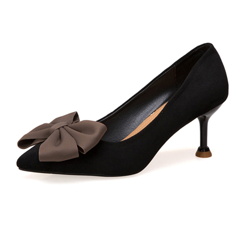 2019 New Fashion High Heels Women Pumps Thin Heel Classic Pumps Sexy Wedding Shoes Pointed Toe Non-slip Pumps Leisure Dress Shoe
