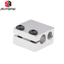 10PCS V6 Volcano Aluminium Heater Block For Print Head Hot End Heating Block 20x20x11.5 mm For 3D Printer(China)