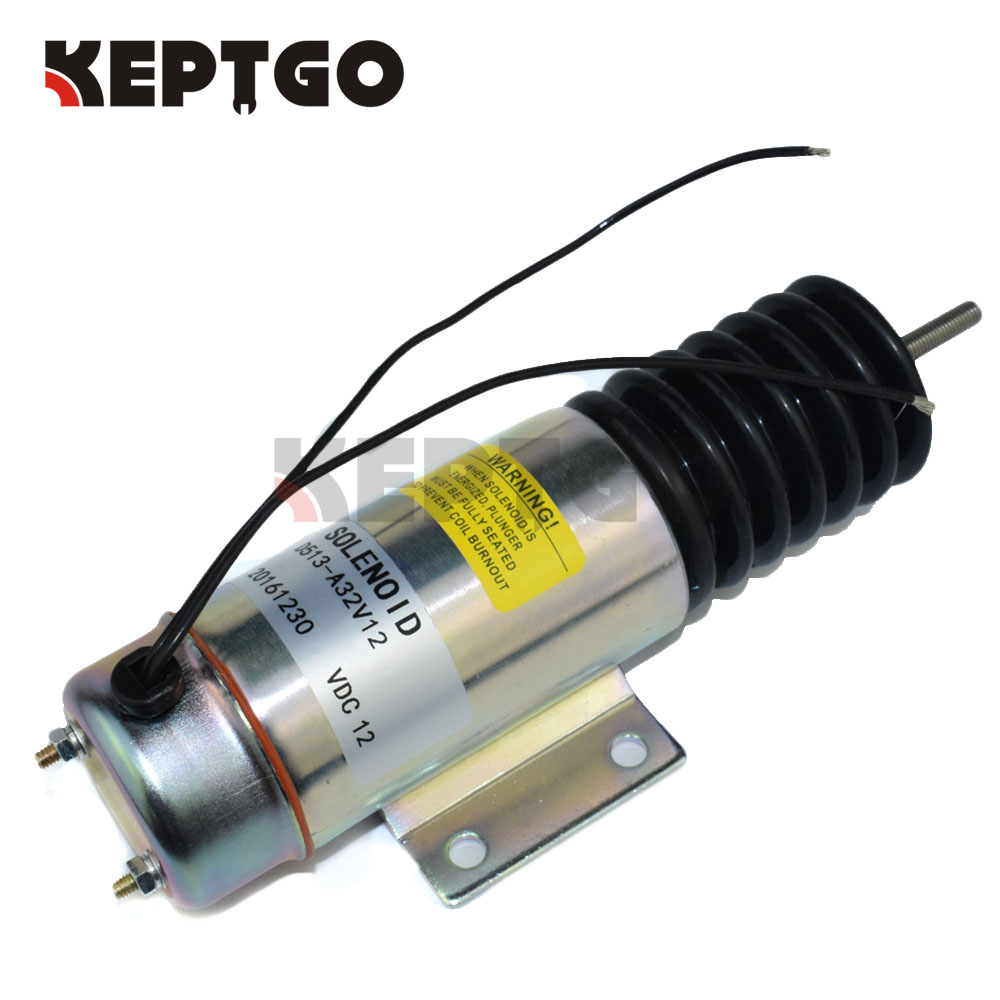 D513-A32V12 12V Fuel Solenoid Valve For Deutz 1011 2011 Engine Perkins 704-30 GN-29073 jiangdong engine parts for tractor the set of fuel pump repair kit for engine jd495