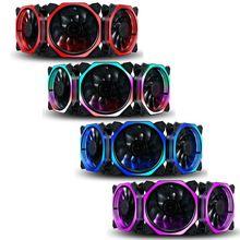 цена на 1PC 12cm Double Aperture Multi-colored Silent LED Computer Case PC Cooling Fan 12V Cooling Fan