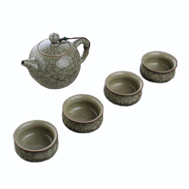 Cool Best Antique Green Glazed Tea Cup Sets Kung Fu Ceramic Bone China Set
