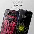 Novo para LG G5 caso Covers 3D alívio estéreo pintura Capa para LG G5 casos fino do telefone móvel de silicone protetor Funda Capa