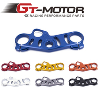 Gt motor FREE SHIPPING black gold red blue For Suzuki GSXR1000 06 10 gsxr600 06 09 Lowering Triple Front End Upper Top Clamp