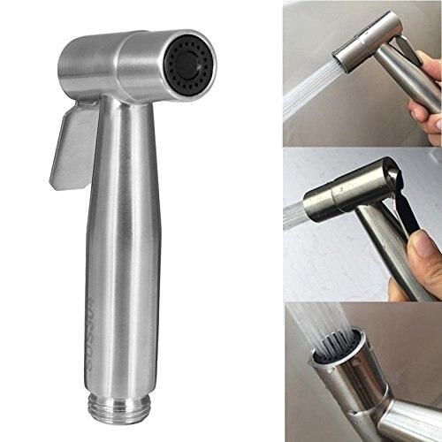 Siège de toilette en acier inoxydable siège de douche à main Bidet toilette Spray toilette Shattaf Accessoires de salle de bain Bidet siège de toilette