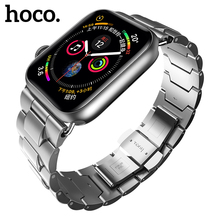 HOCO Metal Band for Apple Watch 42mm 44mm iWatch 40mm 38mm Stainless Steel Butterfly Buckle Strap for Iwatch Series 4 3 2 1 hoco 42mm watchband steel stainless metal strap classic buckle adapter watch bands for apple watch
