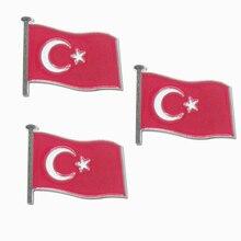 Souvenir Soft Bow Anniversary Badge Turkey cheap custom made Flag Badges