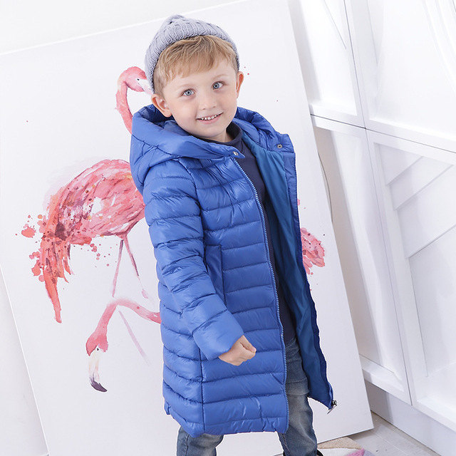 Long Coat Kids Winter Clothes Baby Down Parka Winter Warm Jacket Baby Girls Boys Hooded Child Snow Outerwear
