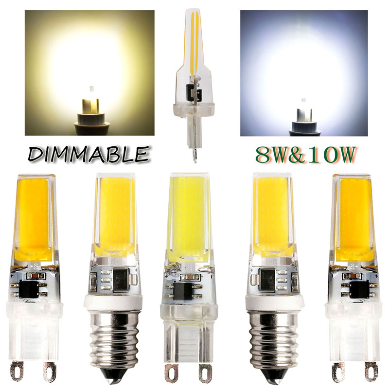 Mini LED Lampada Dimmable G9 E14 COB 9W LED Lights Silicone Crystal Lamps AC220V Chandelier Crystal Light Warm/Cool White Bulbs mini led lampada dimmable g9 e14 cob 9w led lights silicone crystal lamps ac220v chandelier crystal light warm cool white bulbs