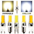 Mini LED Lampada Dimmable G9 E14 COB 9W LED Lights Silicone Crystal Lamps AC220V Chandelier Crystal Light Warm/Cool White Bulbs