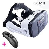 Original 3D VR BOX BOSS Game Video Movie Glasses Virtual Reality Google Cardboard Headphone Speaker Bluetooth