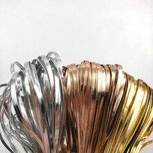 20 м/лот изготовление, поиск ювелирных изделий золотого и серебряного цвета 5 мм из искусственной кожи ленты шнур косой DIY HairBow Chocker ожерелье аксессуары отделка