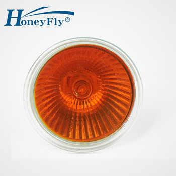 HoneyFly 3pcs Orange Flame Lamp 35W/50W 12V/220V GU5.3 JCDR Dimmable Halogen Lamp Bulb Spot Light Quartz Fireplace SomineLamba - DISCOUNT ITEM  10% OFF All Category