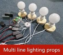 Multi-channel lighting props Lamp house light up unlock Takagism game real life room escape room prop