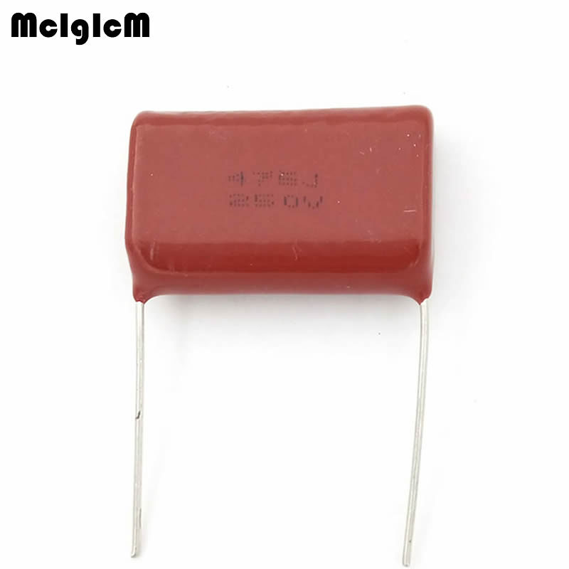 MCIGICM 200 pcs 475 4 7uF 250V CBB Polypropylene film capacitor pitch 27mm 475 4 7uF