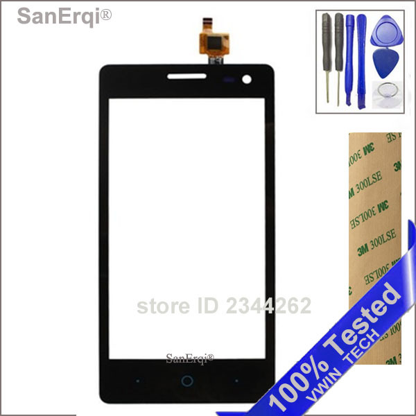 SanErqi 4.5'' Sensor Touchscreen For ZTE Blade GF3 Touch Screen Digitizer Front Glass Touch Panel Outer Lens