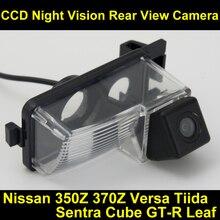 Ccd impermeabile videocamera vista posteriore inversione di sostegno parcheggio camera per nissan 350z 370z versa tiida sentra cubo gt-r foglia