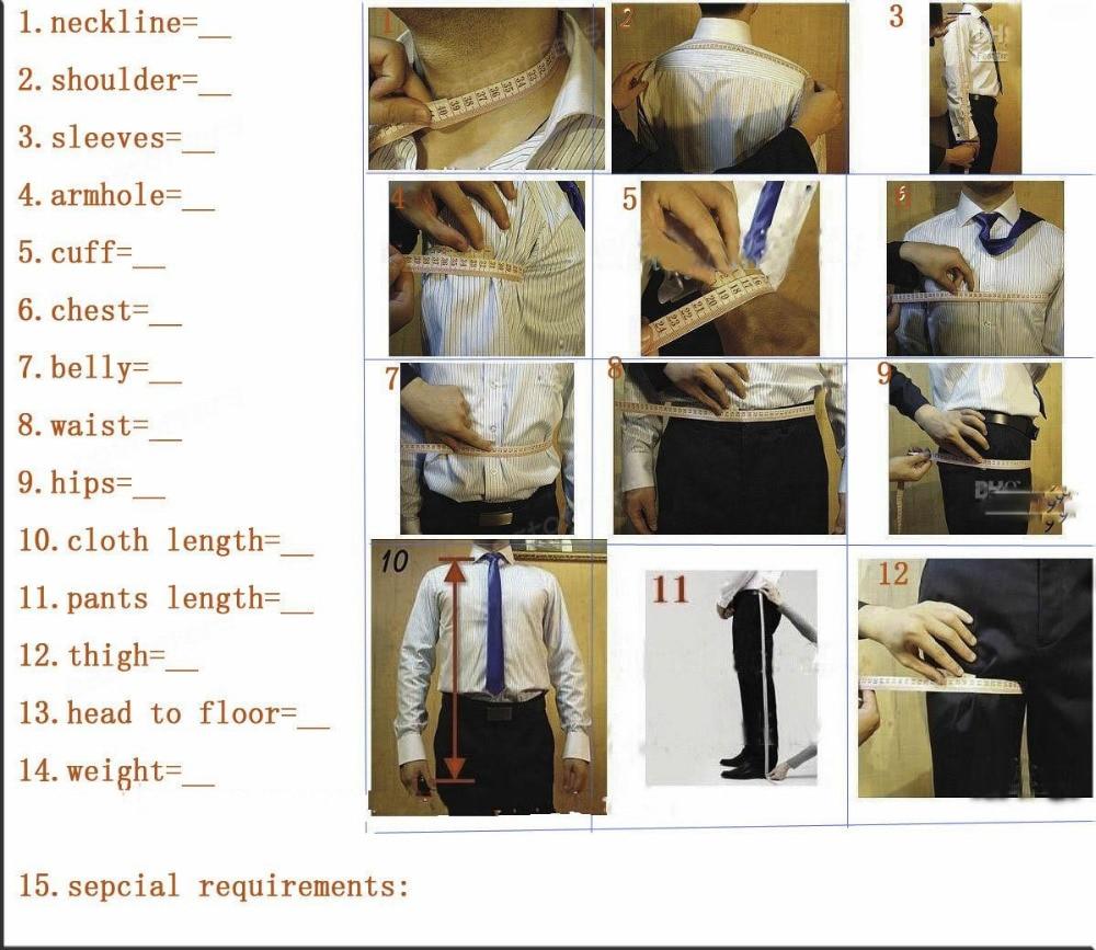 Brand New Shawl Lapel Groom Tuxedos punane valge must pulm ülikonnad - Meeste riided - Foto 5