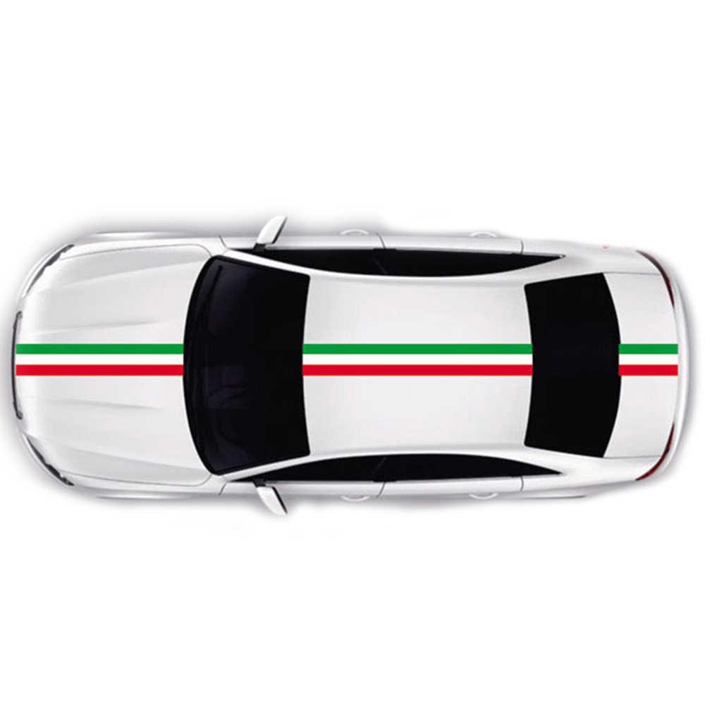 DIYอิตาลีธงรถสติ๊กเกอร์กาวสติ๊กเกอร์ยานพาหนะพีวีซีห่อสติ๊กเกอร์ร่างกายสำหรับFiat 500 BMW Benzมาสด้าฟอร์ดออดี้โฟล์คสวาเก้นรถจัดแต่งทรงผม1เมตร2เมตร3เมตร