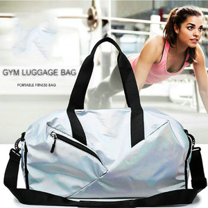 Image 2 - Gym Bags For Women With Shoe Compartment Sport Gym Bag With Wet Pocket New Femal Yoga Duffel Bags Outdoor Travel Luggage Bags