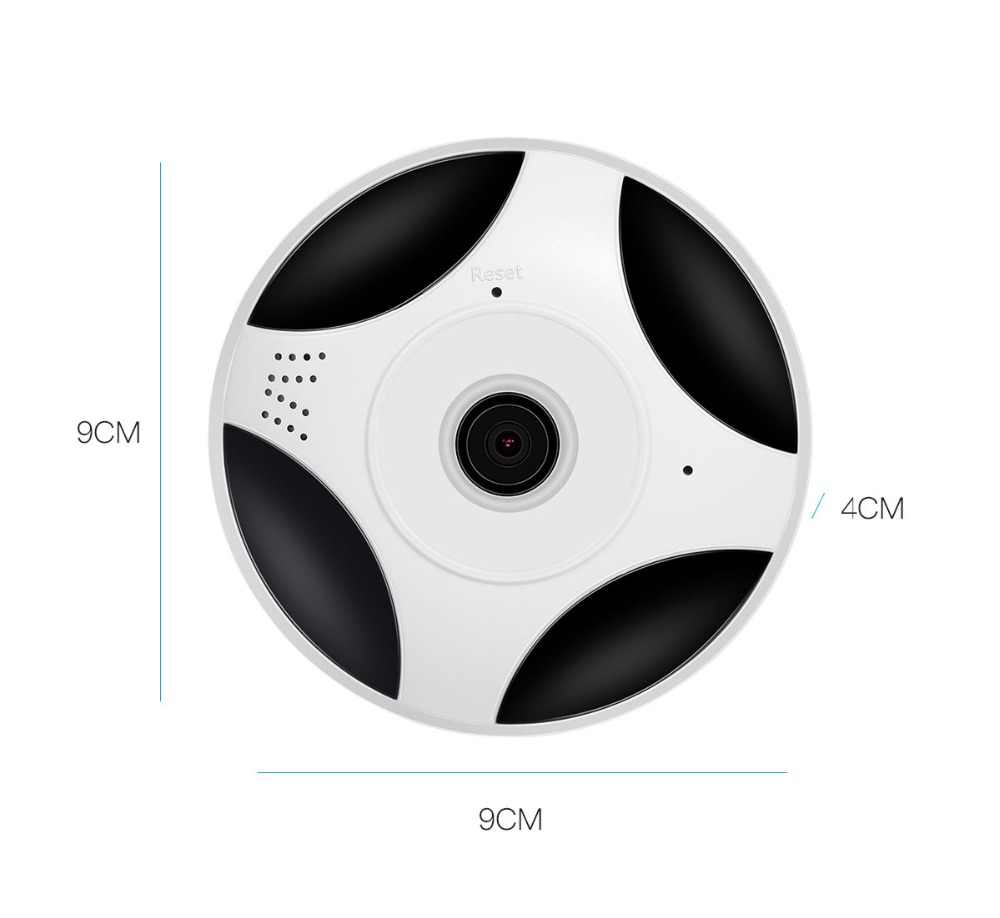 2MP HD FishEye IP camera wi-fi  360 Degree Mini WiFi Camera 1080P Network Home Security Camera Panoramic IR Surveillance Camera