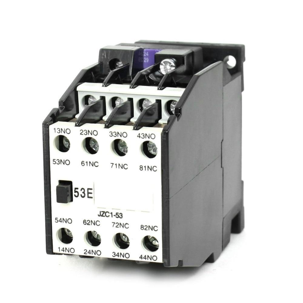 contactor wiring diagram 3nc+5no coil voltage 380v,50hz / 460v ,60hz  jzc1 53, 3