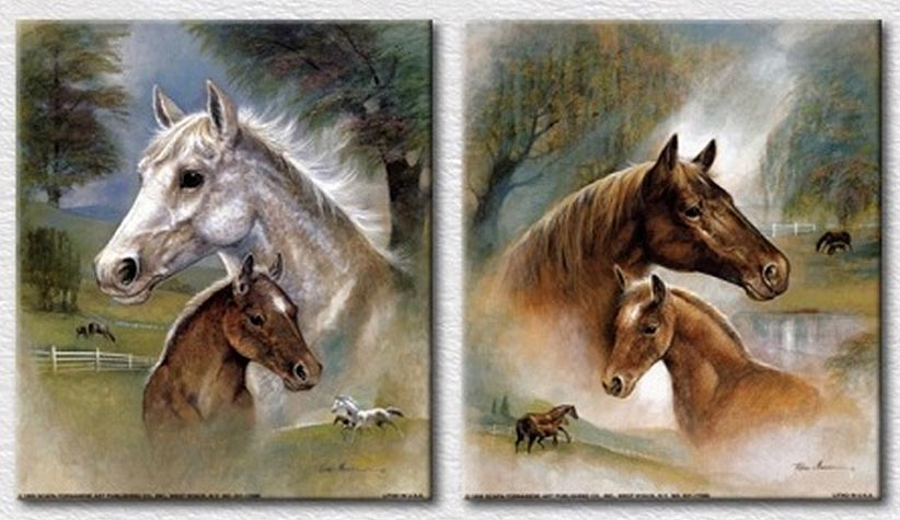 Framed HD Printed love horses Painting Canvas Print room decor print poster picture canvas Free shipping YT DC1 100 61 in Painting Calligraphy from Home Garden