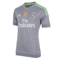 Real madrid 2015 2016 child Football Shirt Adidas polyester GREY soccer jerseys, REAL MADRID SHIRT boy football